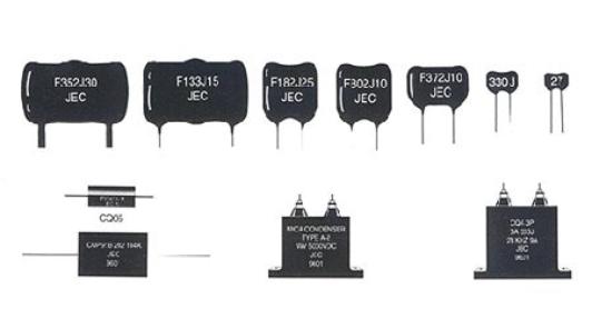 Variedad de condensadores de Mica