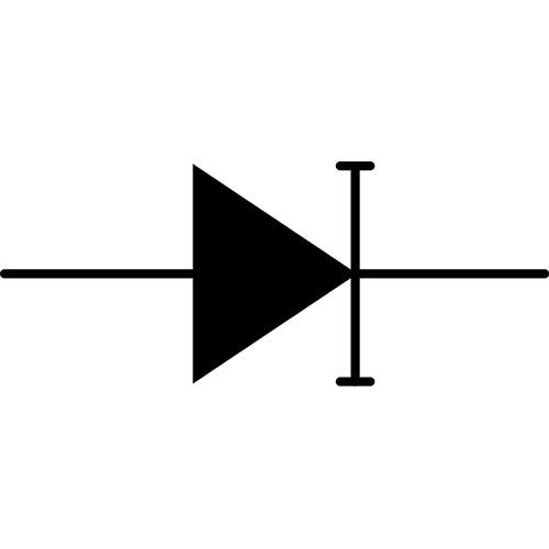Símbolo del diodo CC