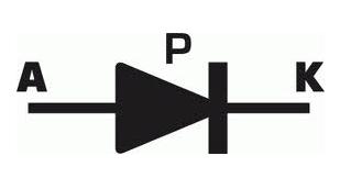 simbologia del diodo pin
