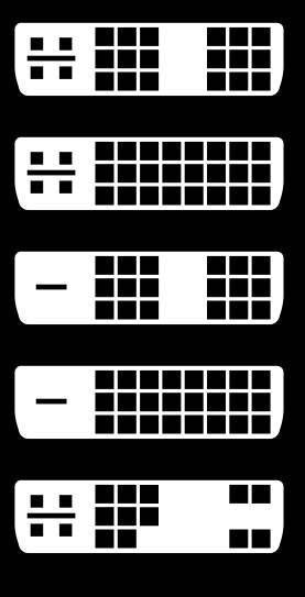 Diferentes tipos de salida video DVI