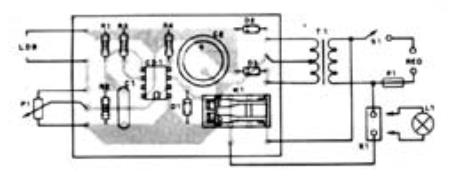 Circuito vista componentes luz nocturna automática