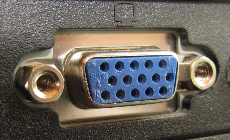 Conector de video SVGA D-sub 15pin