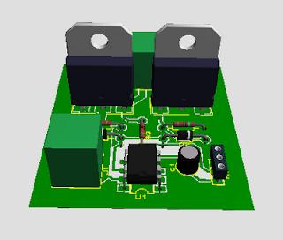 Vista de los componentes del conversor fuente fija a simétrica