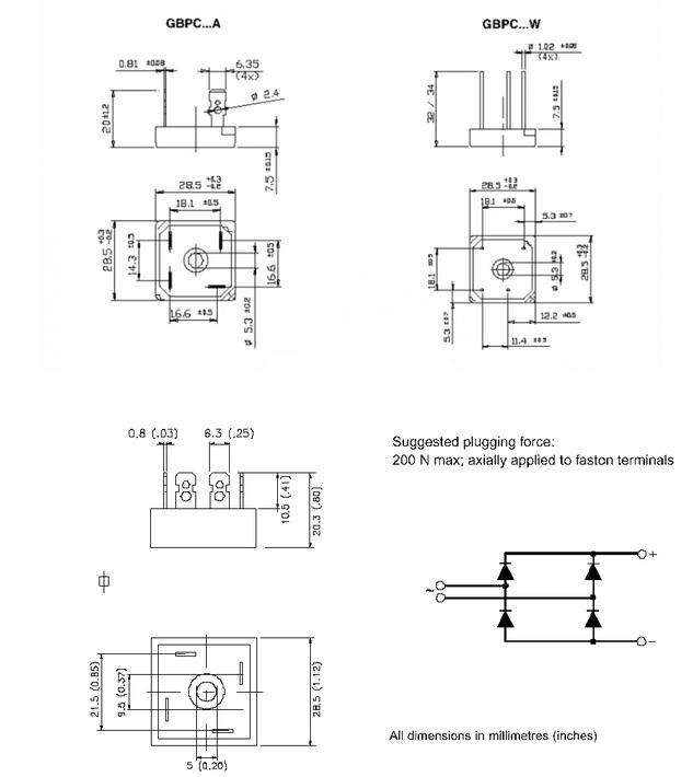 Dimensiones del encapsulado D-34