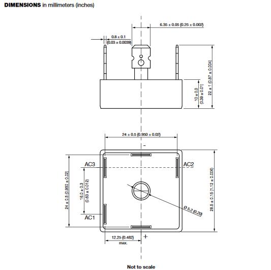 Dimensiones del encapsulado D-63