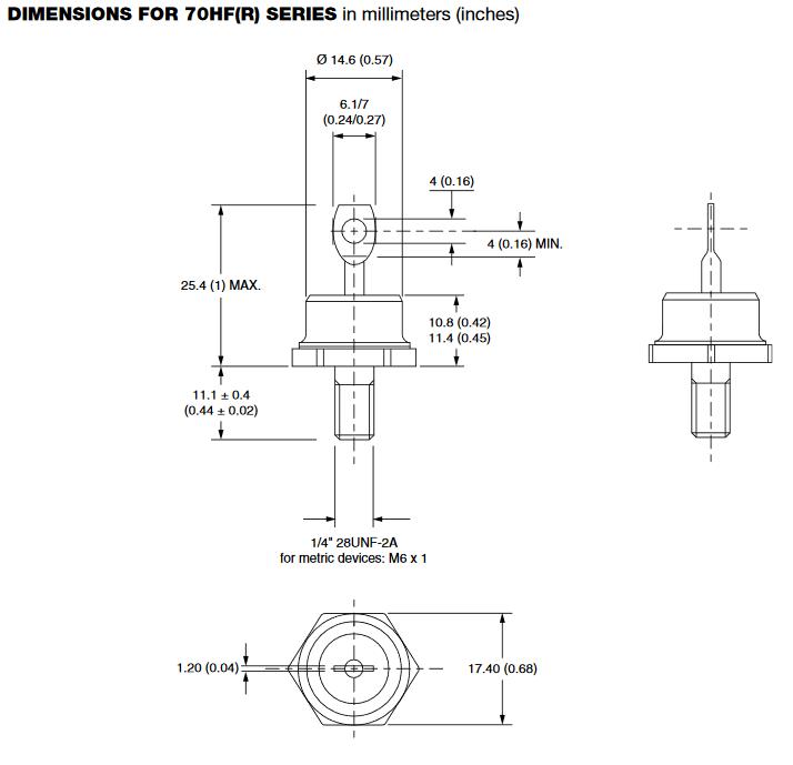 Dimensiones del encapsulado DO-5
