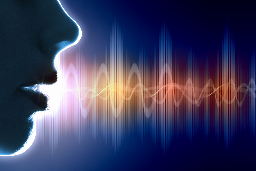 Forma de la señal de la voz humana