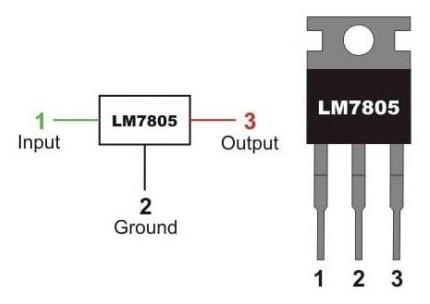 Regulador de tensión LM7805 (5v)