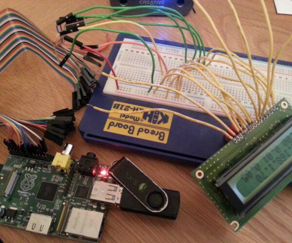Montando un LCD PC1602F-B en una Raspberry Pi